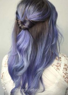 Fashion:Lavender hair ombre 20 great 50 lovely purple & lavender hair colors in balayage Lavender Hair Colors, Lilac Hair, Hair Color Purple, Blue Hair, Ombre Color, Purple Colors, Hair Colours, Purple Grey, Balayage Ombré