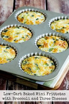 RecipesFeedFood.Com | Healthy Recipes |   LOW-CARB BAKED MINI FRITTATAS WITH BROCCOLI AND THREE CHEESES