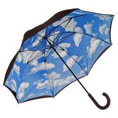 Showcasing a blue sky motif and fiberglass frame, this chic umbrella brings a touch of charm to cloudy days.  Product: Umbrella