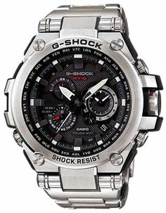 472bfdc97cf Casio G-Shock Solar Triple-G Atomic Watch - Black Dial - Stainless Steel