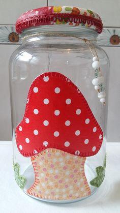 cozinha vidro cogumelo mantimento - Pesquisa Google