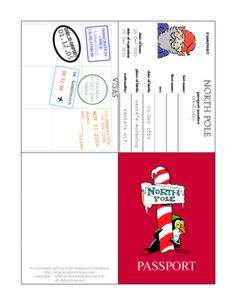 Elf Passport (printable) from the North Pole.  This should be expanded, to include pages for subsequent years - to make a brief journal/diary of the highlights of each Christmas.  It would be a treasure in years to come.