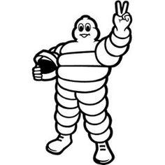 Sticker - Michelin Bibendum - Adhésif 57x93 Cm