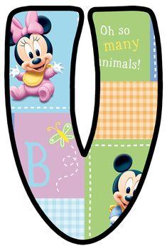 Daisy Duck, Mickey Mouse, Baby Letters, Letter V, Blogger Templates, Christmas Photos, Tricks, Alphabet, Frame