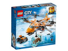 LEGO 60193 City Arctic Expedition Arctic Air Transport Building Set, with Heavy Cargo Rescue Helicopter, ATV, Tiger Figure, Winter Adventure Toys for Kids Shop Lego, Buy Lego, Lego Lego, Train D'atterrissage, Arctic Air, Lego Knights, Lego City Sets, Ice Blocks, Lego Building