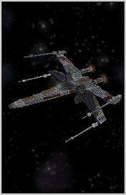X-Wing Star Wars Typography Print