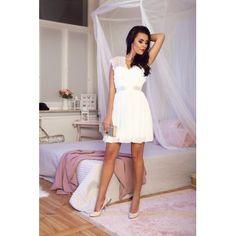 White elegant dress lace classy - La Ficelle Fashion