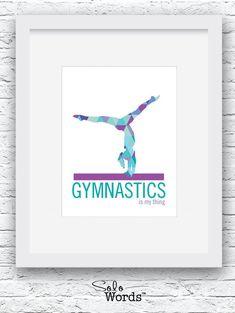 Turnen, gymnastiek Poster Turnen Print, Turnen kunst, Decor van het Turnen, Turnen meisje, Turnen Gift, Gymnast gift