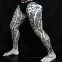 30 Tribal Thigh Tattoos For Men - Manly Ink Ideas #sleevetattoo #tattoosformen Thigh Tattoo Men, Thigh Tattoo Designs, Tattoo Designs For Women, Tribal Tattoos For Men, Tattoos For Guys, Tattoos For Women, Maori Tattoos, Tatoos, Tree Sleeve Tattoo