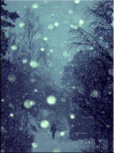 bokeh winter snow stars