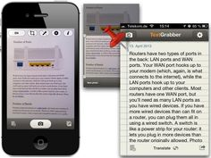 Transferring printed documents to digital text makes the job easier and you don't have to spend your precious time for typing it manually into a new document. Luckily, you can use your iOS device to do *OCR* (Optical Character Recognition).     Part (2)   http://iNotes4You.com/2013/06/21/text-recognition-2  with app reviews of Prizmo, Text Grabber, and ImageToText