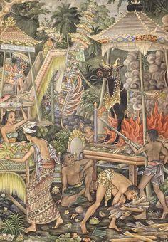 I Gusti Made Kwanji (Peliatan,Ubud, 1936) - Balinese Ceremony.