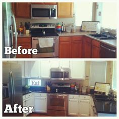 DIY Kitchen Countertop and Cabinet Redo using Rustoleumm cabinet kit and Armor Garage counter top kit