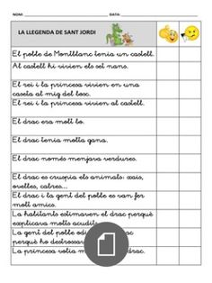 document Saint George And The Dragon, Saints, Valencia, School, Logo, Frases, Reading Comprehension, Classroom, Activities
