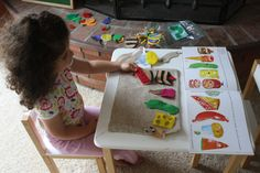 Felt board and hungry caterpillar story