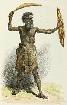 An Aboriginal Warrior Australian Aboriginal History, Australian Art, Aboriginal Culture, Aboriginal People, Australian Aboriginals, Aboriginal Painting, Native Australians, Australia Map, Fantasy Races