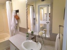 1000 images about our new slice of single wide heaven on for Mobile home master bathroom remodel
