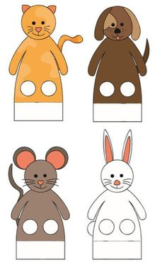 Ideas Crafts Pattern Finger Puppets 2020 for Kids Kindergarten Finger Puppet Patterns, Finger Puppets, Paper Crafts For Kids, Diy For Kids, Puppets For Kids, Puppet Crafts, Origami Animals, Animal Crafts, Craft Patterns