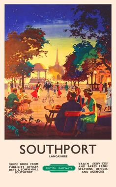 Image result for vintage travel posters, railway, St. Ives, Cornwall