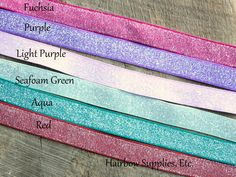 Frosted Glitter Elastic - supplies for making your own twist band elastic hair bands