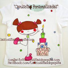 Las cositas de Pepita: Camisetas Personalizadas para Cumpleañeras