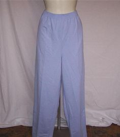 BELVEDERE Womens Plus Sz 1X Sweat Pants Elastic Waist Lt Blue Pull On Casual NEW #Belvedere #CasualPants
