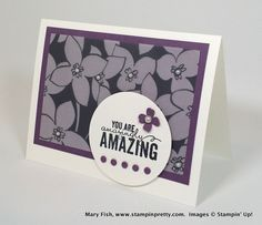 SAB Sheer Perfection Designer Vellum Stack Stamps: Painted Petals Cardstock, Whisper White & Perfect Plum