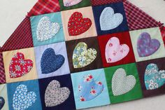 DSC04242 by dutch blue, via Flickr...hearts quilt