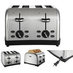 Oster 4 Slice Toaster  Oster Long Slot TSSTTRWF4S New Free Shipping #Oster