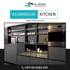 Al Basira has the sturdiest, most well-designed patterns in aluminium and glass based products, such as aluminium kitchen. Check out their services and some of the projects they have completed so far on their website. Aluminum Kitchen Cabinets, Aluminium Kitchen, Folding Doors, Website, Patterns, Glass, Check, Projects, Design