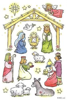AGC Christmas Stickers - NATIVITY - HOLY FAMILY