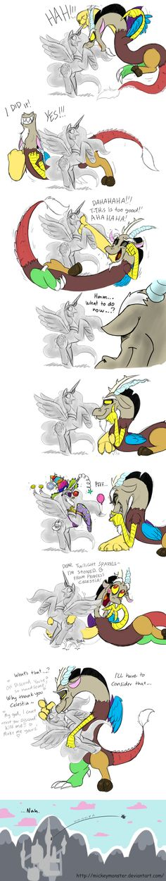 Discord's playtime by Mickeymonster.deviantart.com on @DeviantArt