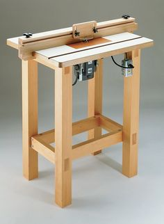 Table Plan - Build Your Own Router Table . Router Table Plan - Build Your Own Router Table .Router Table Plan - Build Your Own Router Table . Router Diy, Diy Router Table, Router Table Plans, Router Woodworking, Woodworking Projects Diy, Woodworking Furniture, Diy Wood Projects, Diy Table, Woodworking Shop