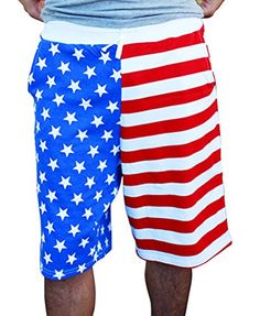 Mens American USA Flag Print Swim Boardshorts ** Clicking on the image will lead you to find similar product