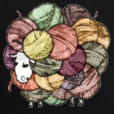 yarn sheep. I want this shirt.