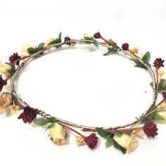 It would be fun for the little girls to make these at the wedding. How to Make a Beautiful Flower Crown Headpiece for the boho bride with @guidecentral.