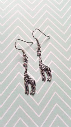 Giraffe earrings Giraffe jewellery Animal earrings Dangle