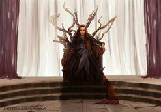 Heda Lexa throne fanart