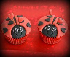 Ladybag Valentine Cupcake