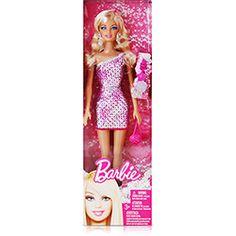 Barbie Figura Básica - Glitz Rosa - Mattel