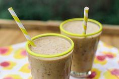 Lighter Treat Recipe: Frozen Banana-Peanut Butter Chocolate Chip Milkshakes