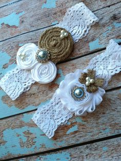 SALE/ WEDDING Garter/ BURLAP wedding garter / by whomadethatbow, $30.99
