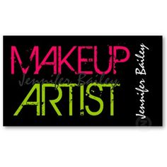 72 best beauty cosmetics spa skincare business cards images on makeup artist business cards in bold neon red and green customizable colors reheart Choice Image
