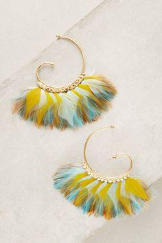 Slide View: 1: Dawn Songbird Hoop Earrings
