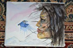 s ledňáčkem, akvarel z cesty po Sri Lance...jestli se vám libí tak tady je více mé tvorby www.mls-art.cz