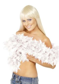 Look delightful in Smiffys White Deluxe Feather Boa. This Boa is a great addition to any flapper or burlesque fancy dress. Free Delivery Available. White Feather Boa, White Feathers, Fancy Dress Accessories, Costume Accessories, Halloween Accessories, 1920s Wig, Burlesque Fancy Dress, Flapper Headband, Costume Dress