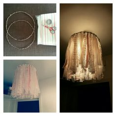 Handmade fabric lamp!#love#ikea#fabrics#athena#is#creative#today#