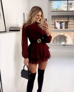 Cute Skirt Outfits, Mode Outfits, Cute Casual Outfits, Sexy Outfits, Stylish Outfits, Classy Outfits For Teens, Classy Winter Outfits, Winter Fashion Outfits, Look Fashion