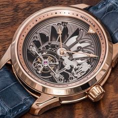 """Molnar Fabry Majestic Tourbillon Piece Unique Watch - by Santiago Tejedor - See more at: http://www.ablogtowatch.com/molnar-fabry-majestic-tourbillon-piece-unique-watch/ """"For many watch buyers and collectors, there is little chance to own a rare or limited edition watch that can be said to be a truly unique piece made to their exact tastes. The Slovakian duo behind #MolnarFabry specializes in doing just this, and since 2006 they have created some truly intricate and breathtaking...""""…"""