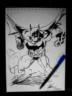 #sketch #art #sketchart #work #animation #character #2013#blackandwhite#marker#batman#for#